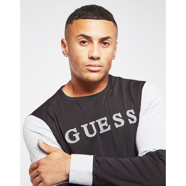 GUESS Colour Block Long Sleeve T-Shirt