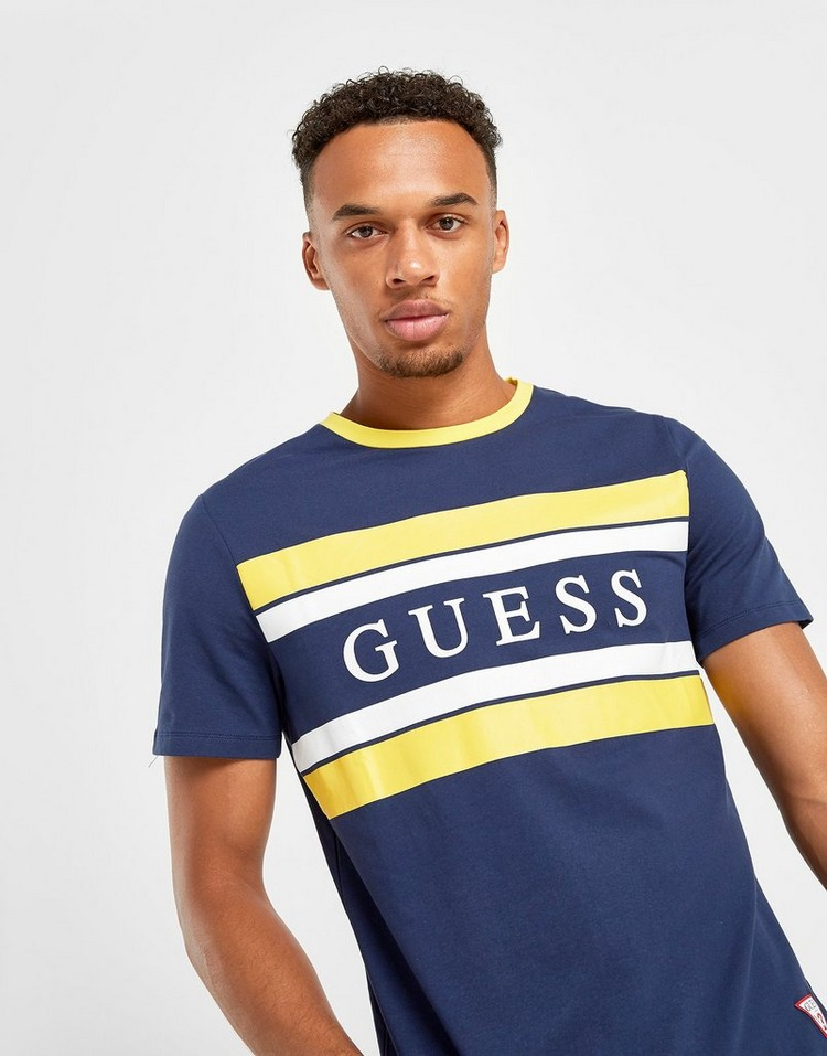 GUESS Stripe Linear Panel T-Shirt