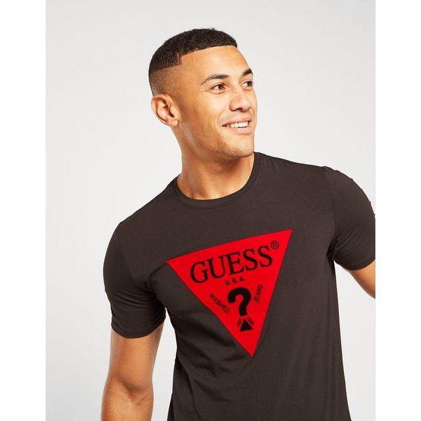 GUESS Flock Triangle T-Shirt