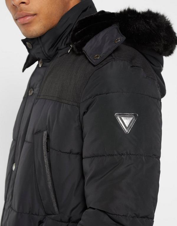 GUESS Long Fur Puffer Jacket