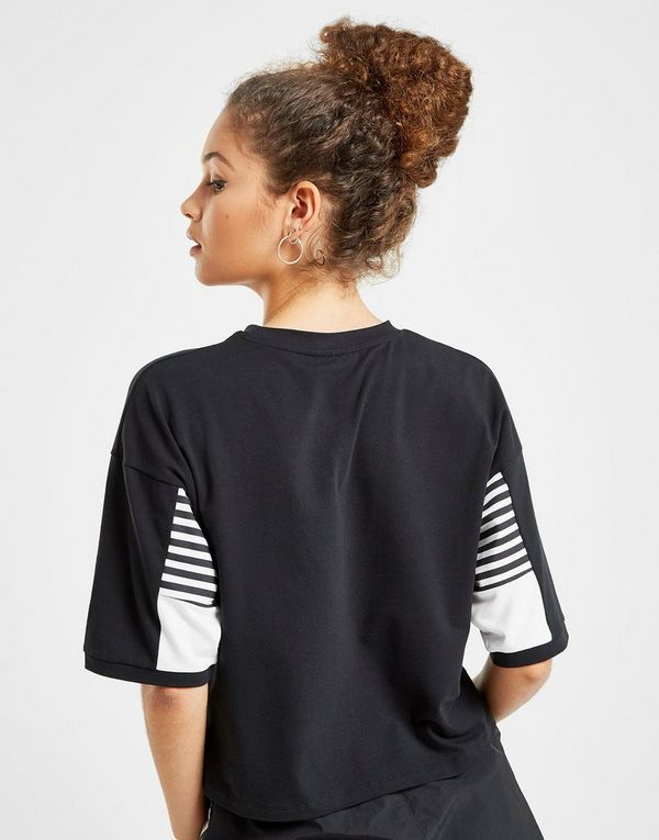 Hummel Stripe Sleeve Crop T-Shirt