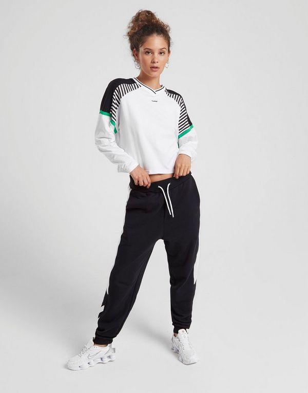 Hummel Stripe Long Sleeve Crop T-Shirt