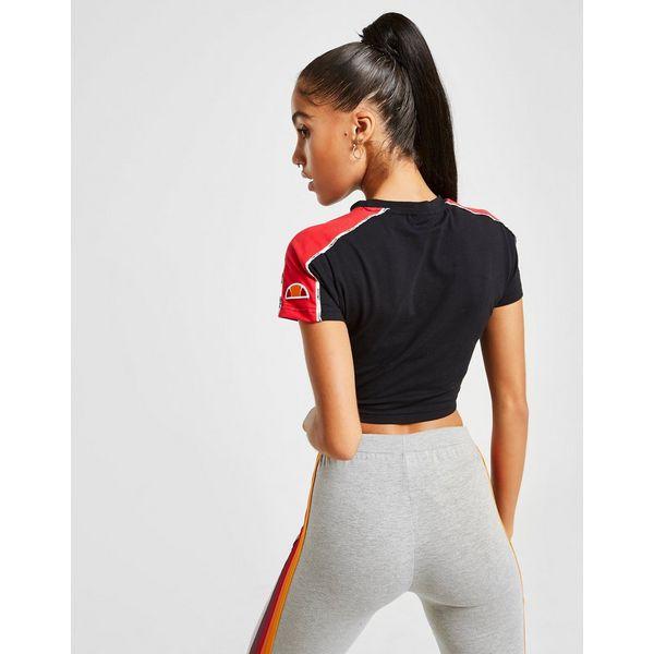Ellesse Piping Slim Crop T-Shirt