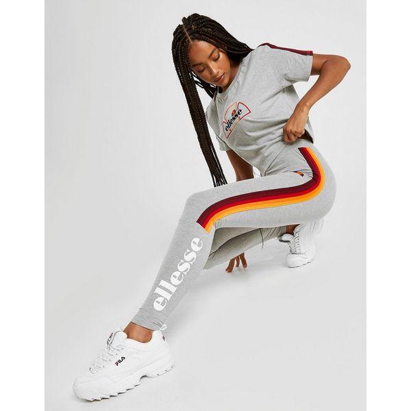 Ellesse Rainbow Tape Crop T-Shirt