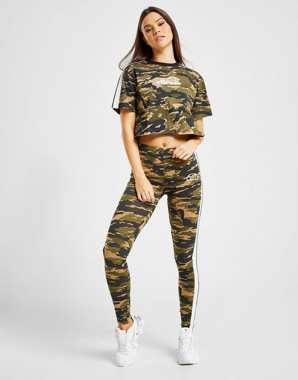Ellesse Stripe Crop T-Shirt
