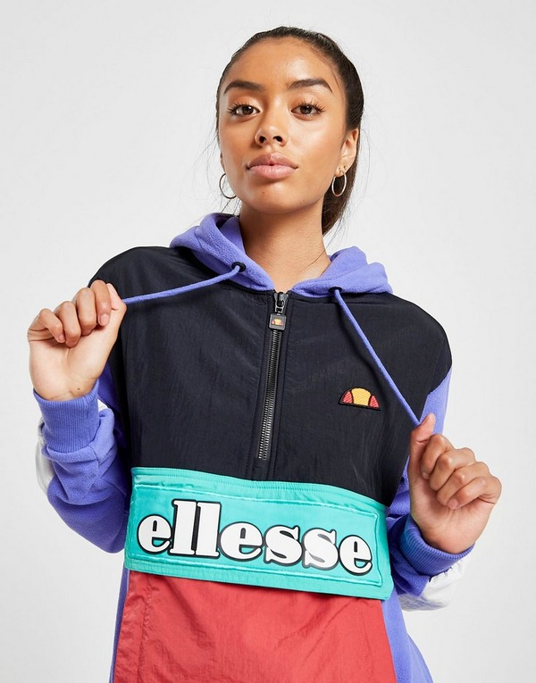 Ellesse Colour Block Woven Polar Fleece Hoodie