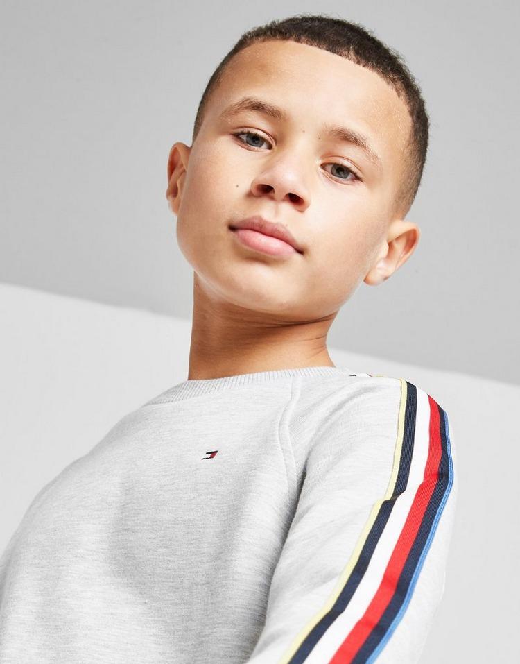 Tommy Hilfiger Stripe Tape Crew Sweatshirt Junior