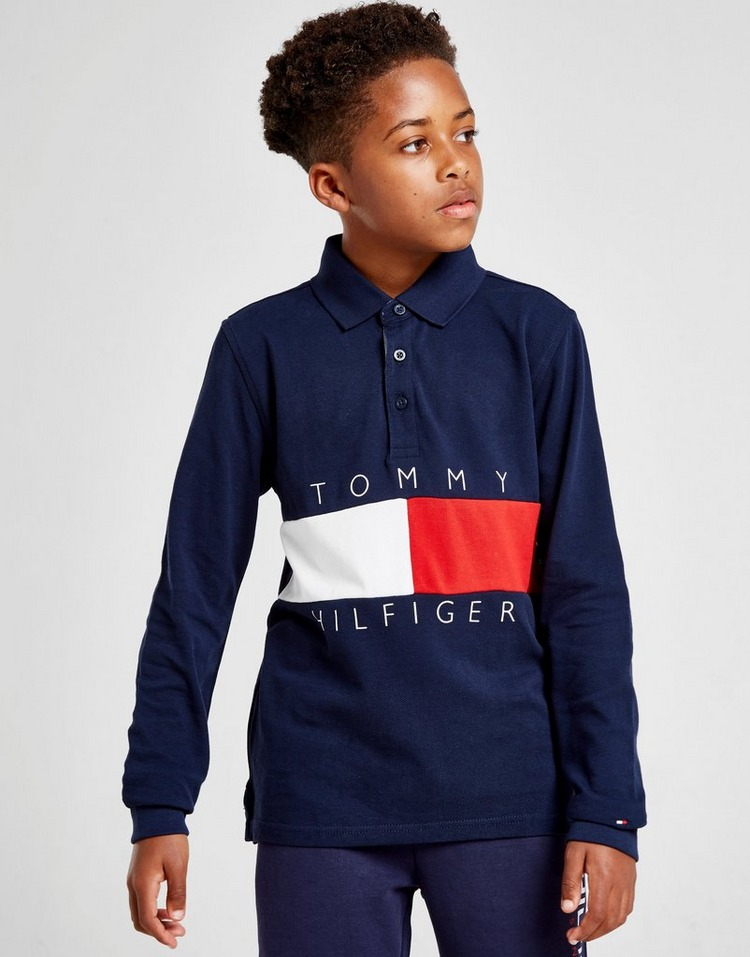 Tommy Hilfiger Colour Block Long Sleeve Polo Shirt Junior