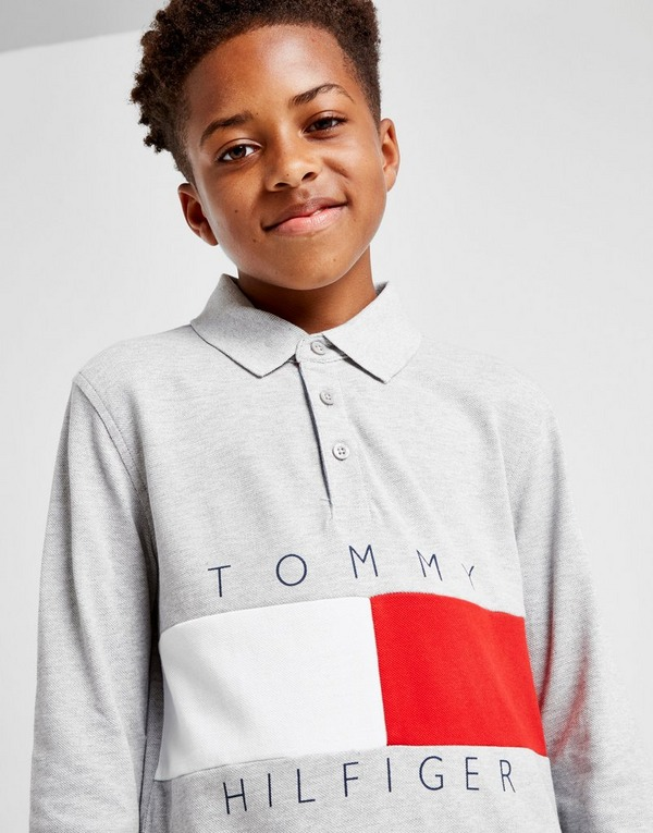 Tommy Hilfiger Colour Block Long Sleeve Polo Shirt Junior