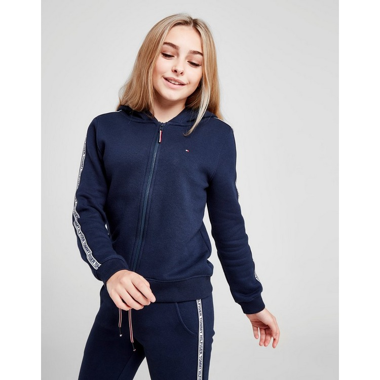 Tommy Hilfiger Girls' Tape Full Zip Hoodie Junior