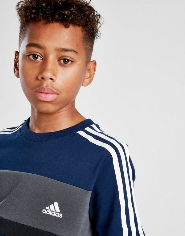 adidas Sport Colour Block T-Shirt Junior