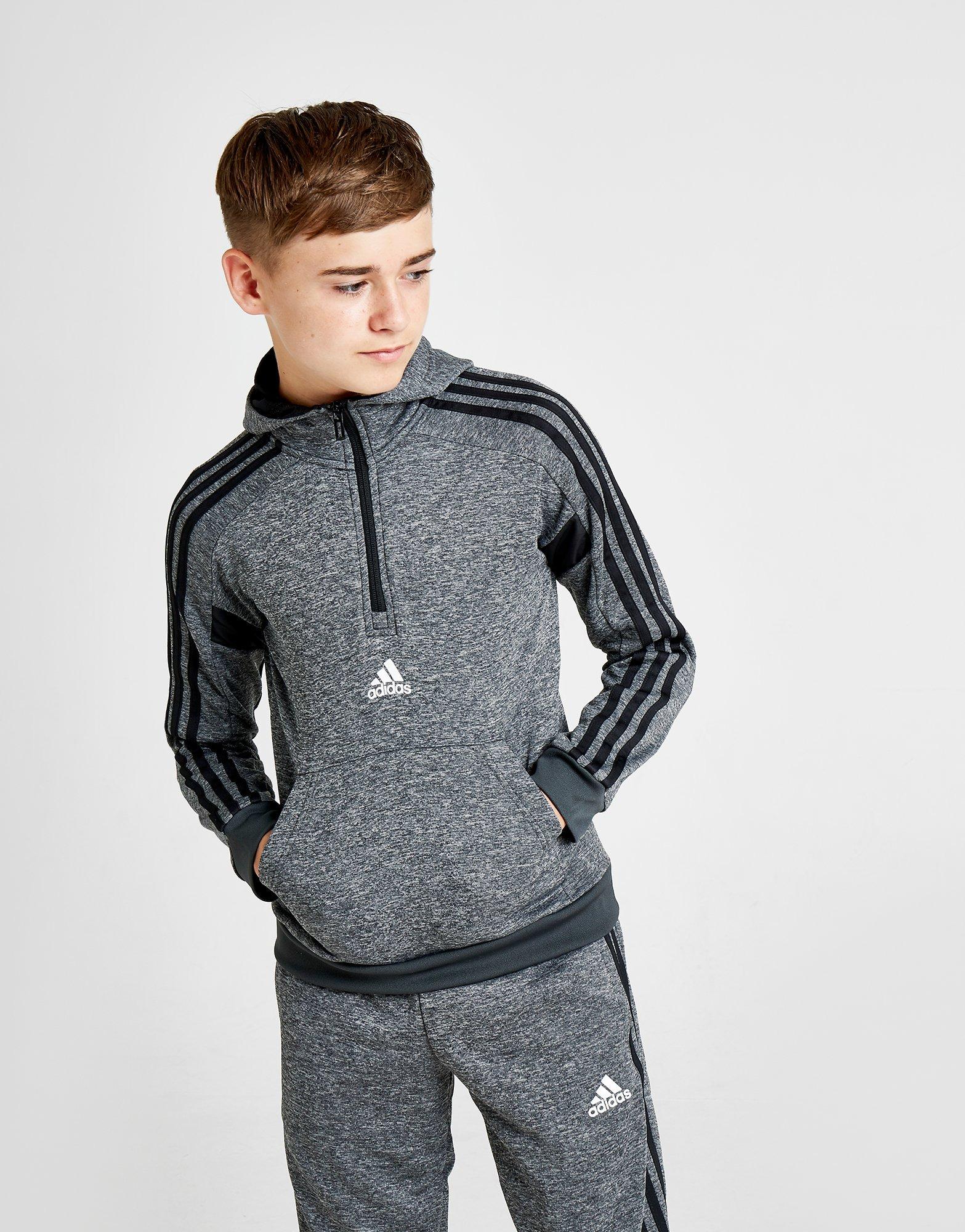 adidas Match 12 Zip Hoodie Junior | JD Sports