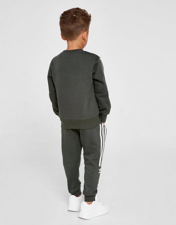adidas Originals Lock Up Trefoil Crew Tracksuit Children