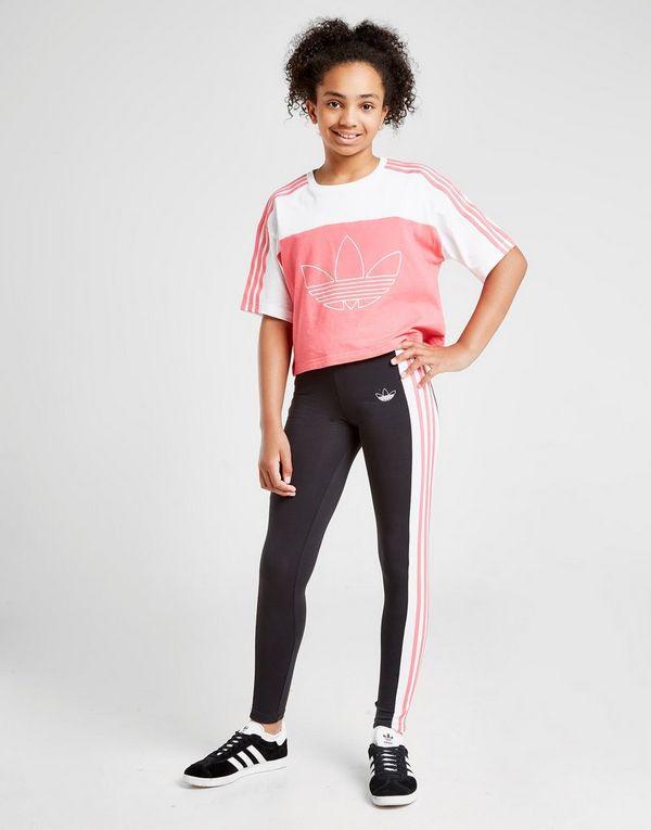 adidas Originals Girls' Spirit BB 3-Stripes Leggings Junior