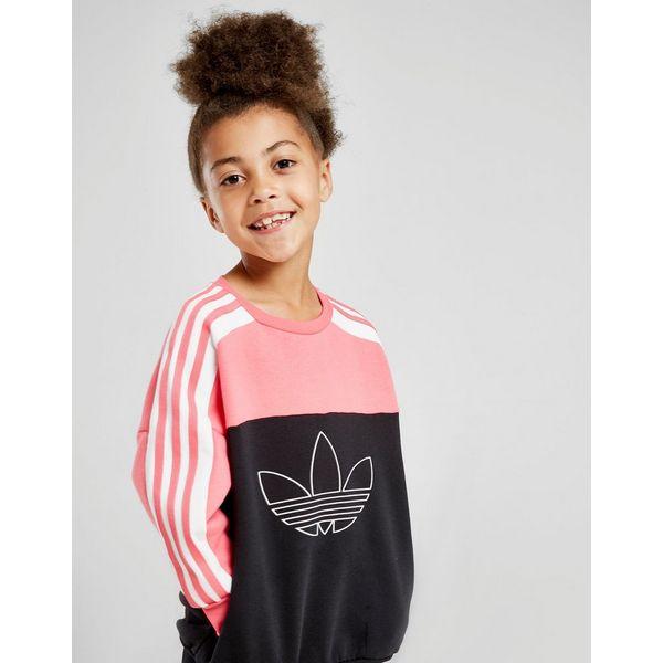 adidas Originals Girls' Spirit Colour Block Crew Suit Children