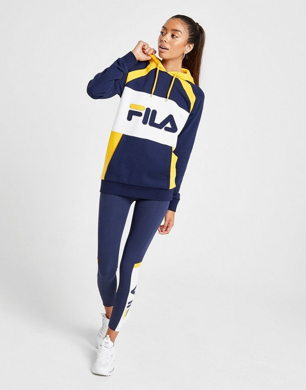 Acquista Fila Stripe Panel Felpa con cappuccio Donna in