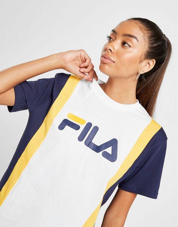 592ff5c4d46d Fila Stripe Panel Boyfriend T-Shirt | JD Sports
