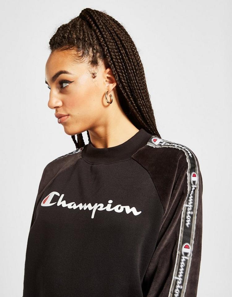 Champion Velvet Panel Crew Sweatshirt