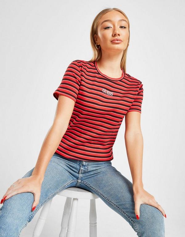 GUESS Ribbed Stripe T-Shirt