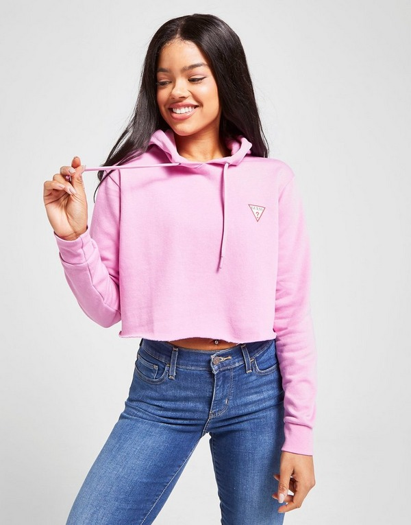 GUESS Triangle Crop Hoodie
