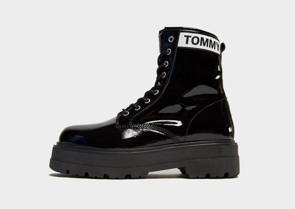 Tommy Jeans Patent Platform Boots Women's