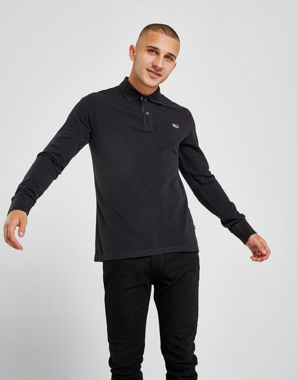 Napapijri Small Logo Long Sleeve Polo Shirt
