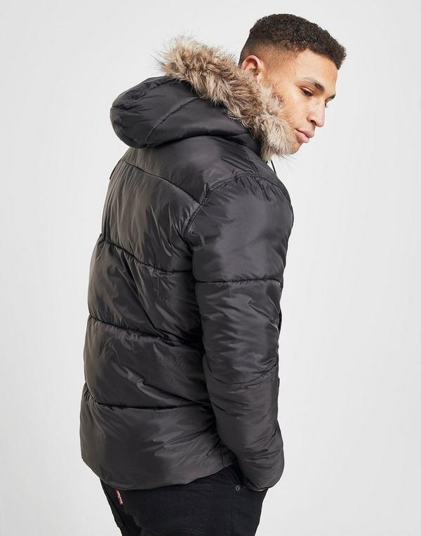 Lyle & Scott Fur Trim Bubble Jacket