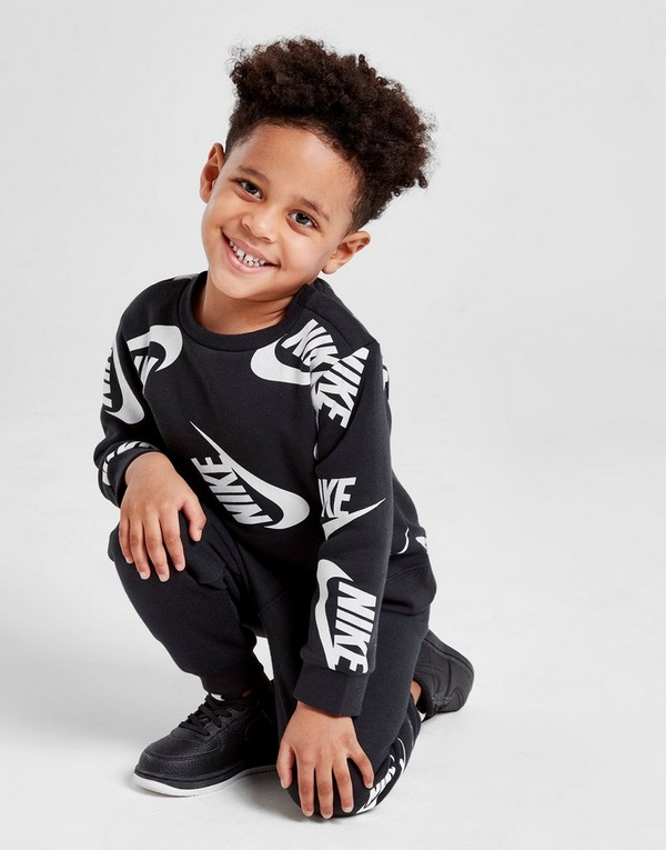 Nike All Over Print Crew Tracksuit Infant