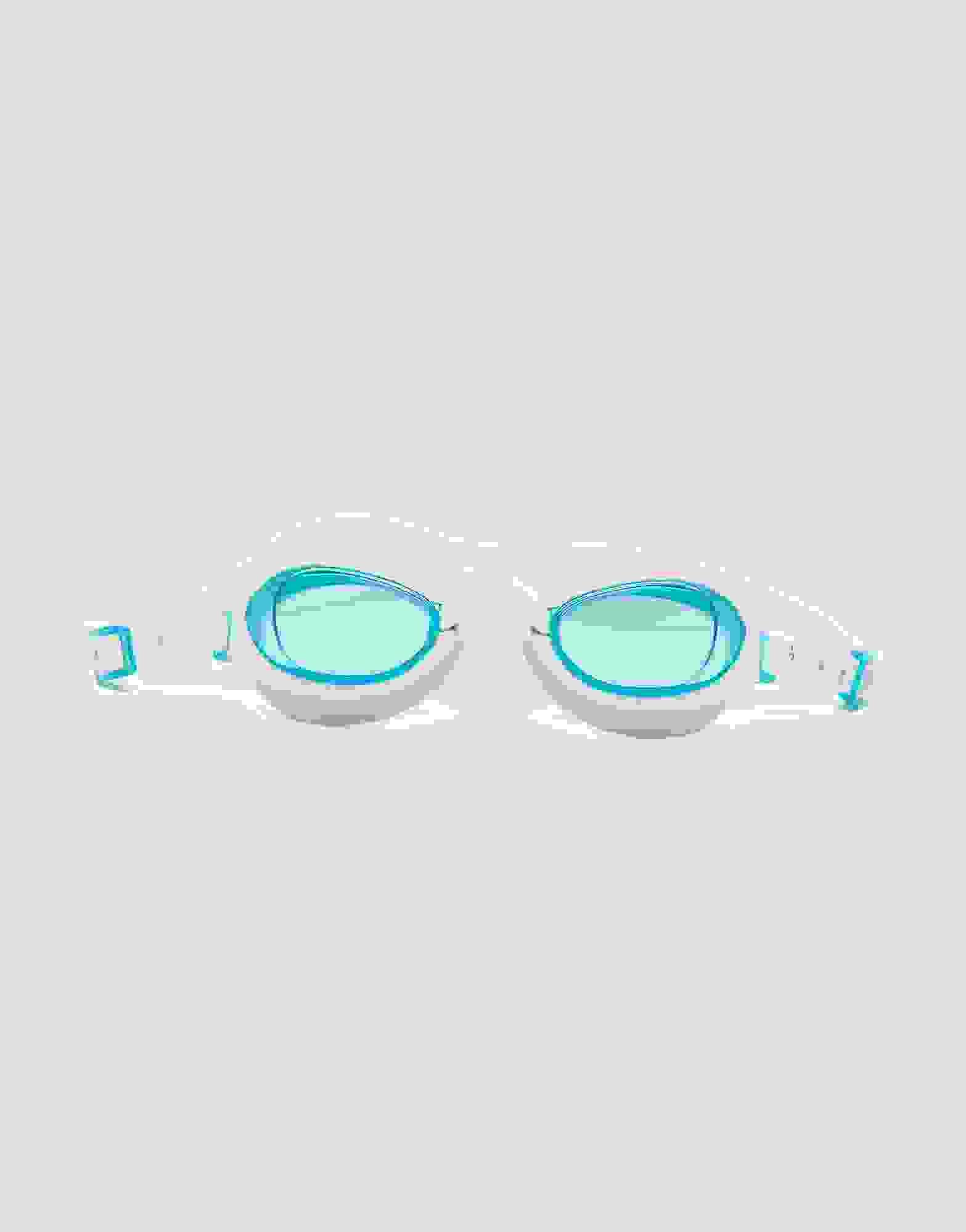 Speedo Aquapure Female Goggle IQFit ~ White BlueTint FREE CARRY CASE