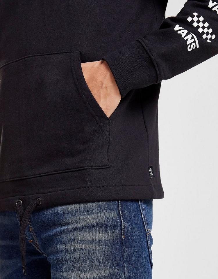 Vans 1/4 Zip Checkerboard Sleeve Logo Sweatshirt