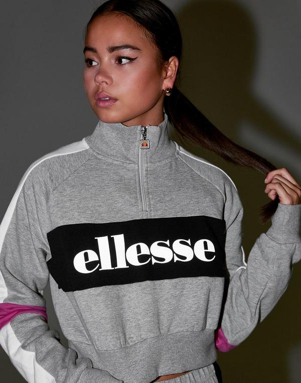 Ellesse Reflective Logo 1/4 Zip Sweatshirt