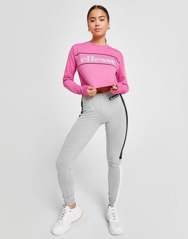 Ellesse Piping Long Sleeve Crop T-Shirt