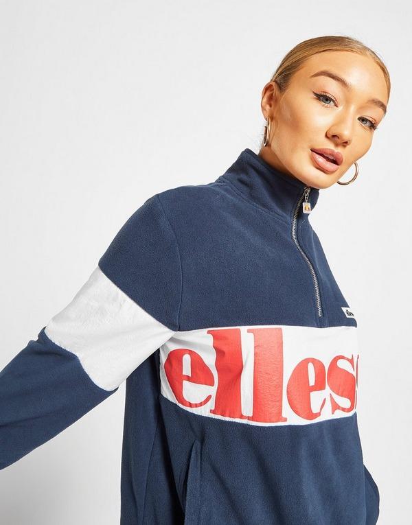 Ellesse Micro Fleece Panel 1/4 Zip Top