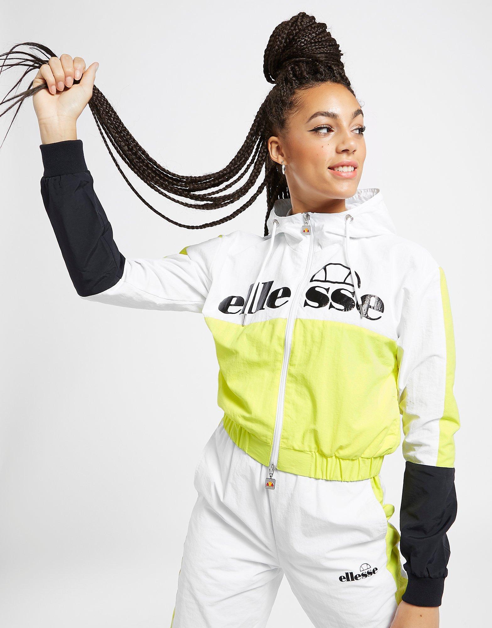 Ellesse Colour Block Logo Woven Full Zip Track Top | JD Sports