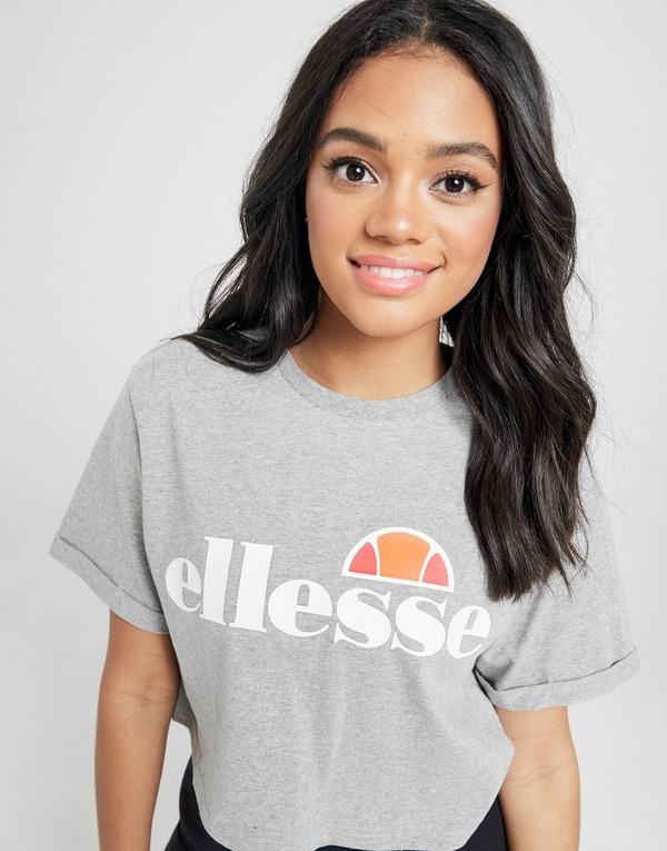 Køb Ellesse Core Logo Crop T Shirt Herre i Grå | JD Sports