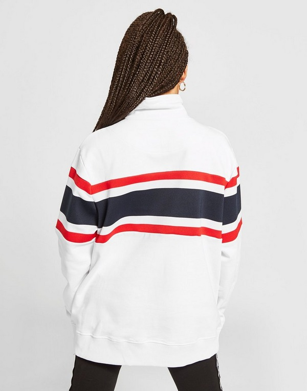 Karl Kani Colour Block 1/4 Zip Sweatshirt