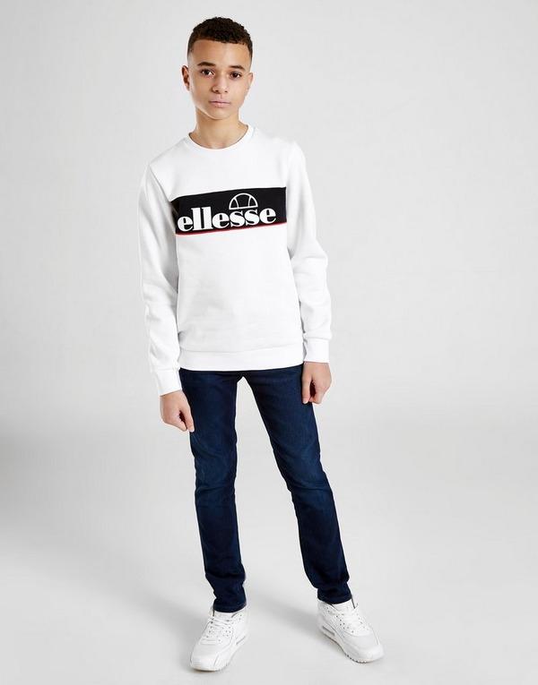 Ellesse Ellisto Colour Block Fleece Crew Sweatshirt Junior