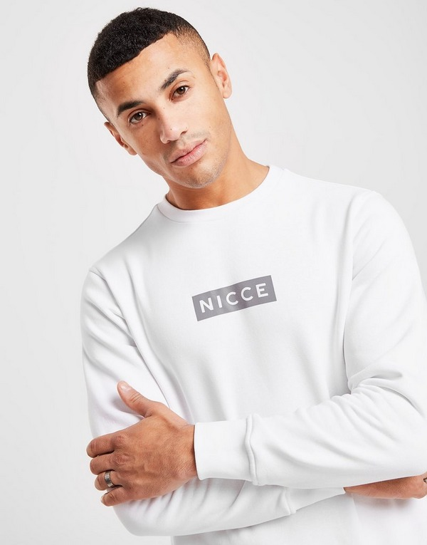 Nicce Base Reflective Logo Sweatshirt