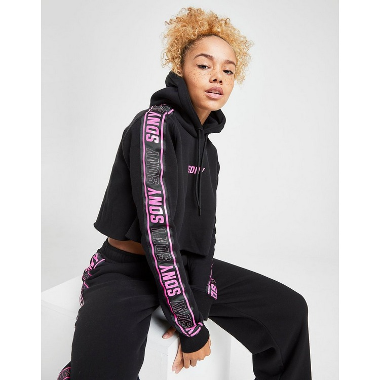 Supply & Demand Crop Tape Hoodie