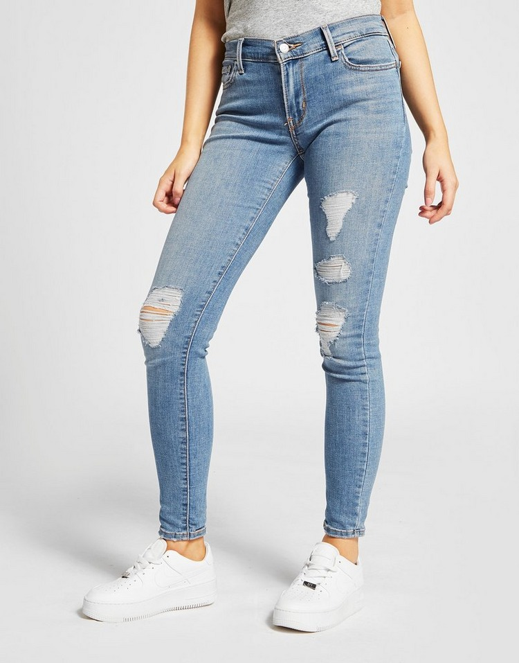 Levis 710 Super Skinny Ripped Jeans