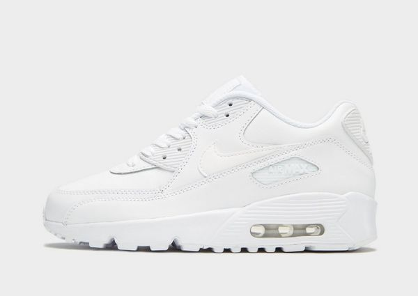 Athletic Shoes Triple White Nike Air Max 90 Stylish Trainers Shoes Uk Size 10 Clothing, Shoes & Accessories