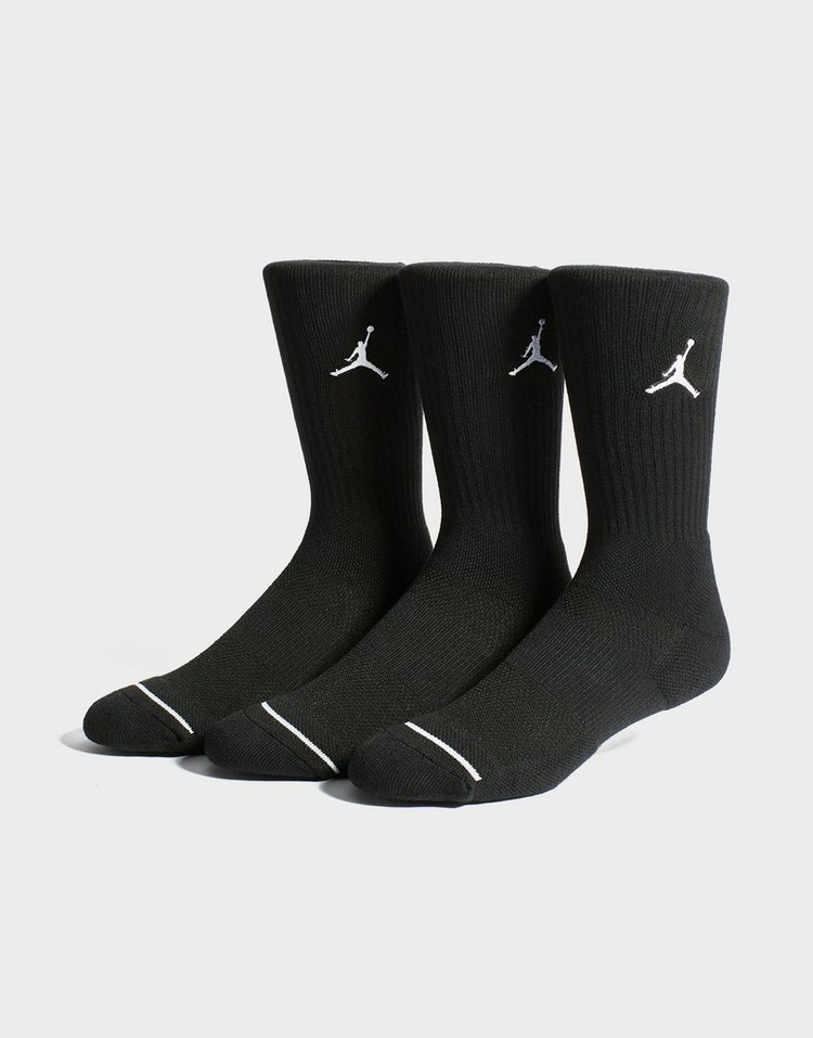 new concept best sell los angeles Buy Black Jordan 3 Pack Crew Socks | JD Sports