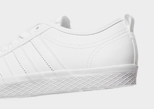 Adidas Honey Low Women's Honeycomb Triple Stripe Canvas White Trainer Shoe | eBay