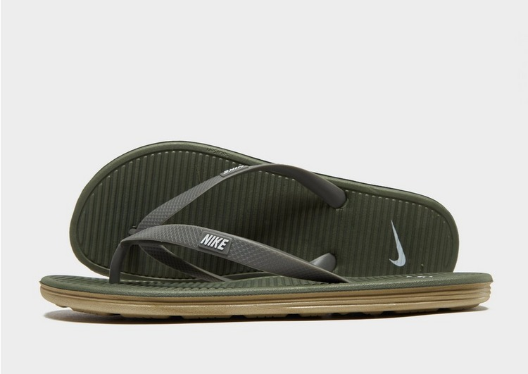 FREE SHIPPING  BRAND NEW Nike Solarsoft Thong II Youth Black Pink US Size 1Y