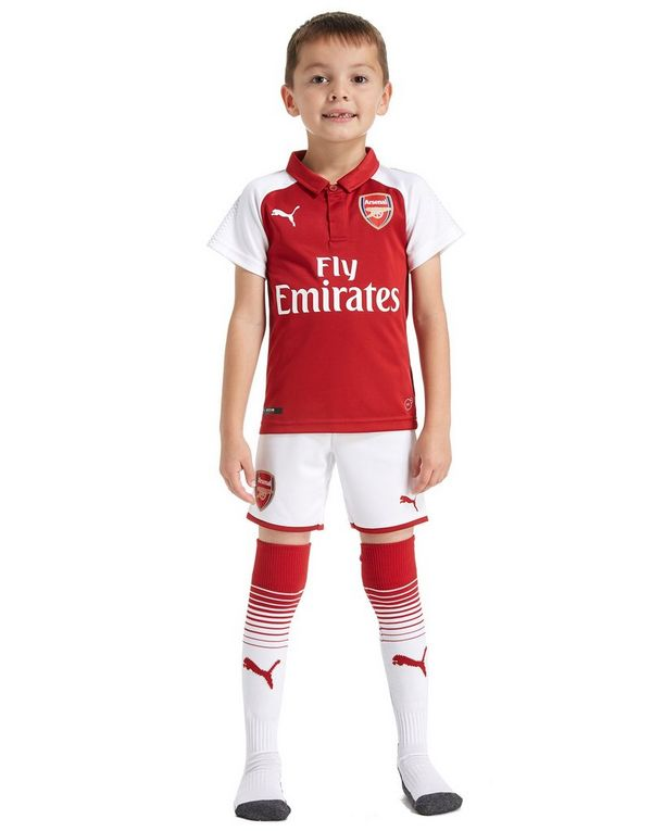 5ad8a142063 PUMA Arsenal FC 2017 18 Home Kit Children