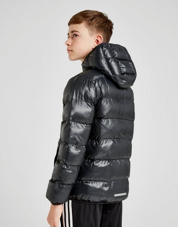 Shop den adidas Hooded Bomber Jacke Kinder in Schwarz