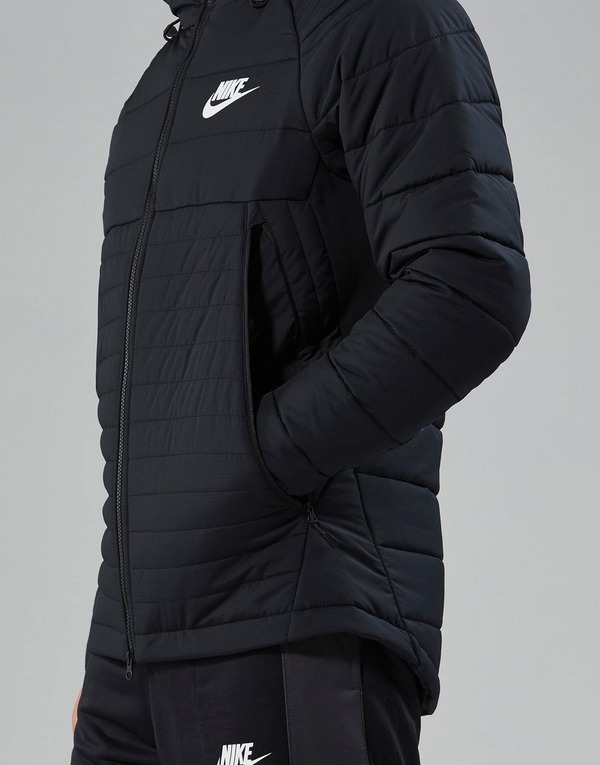 Køb Nike Sportswear Hooded Down Jakke Herre i Sort | JD Sports