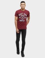 Official Team West Ham United Club Crest T-Shirt Heren