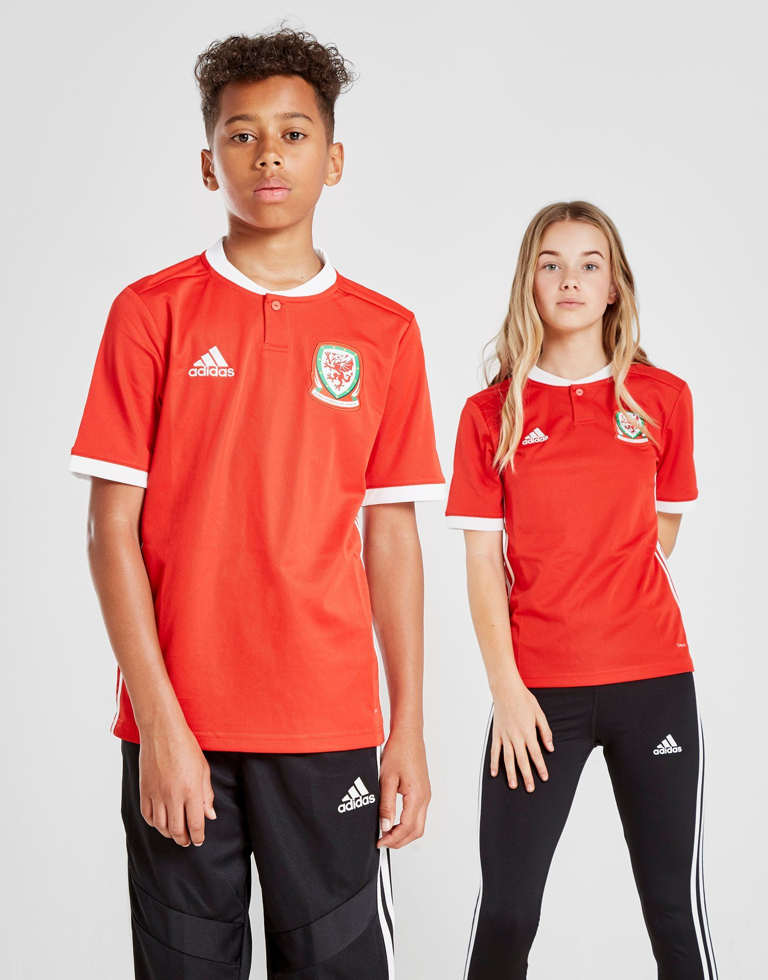 adidas Wales 2018/19 Home Shirt Junior