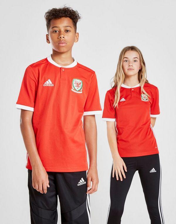 07cf84a65f2 adidas Wales 2018 19 Home Shirt Junior
